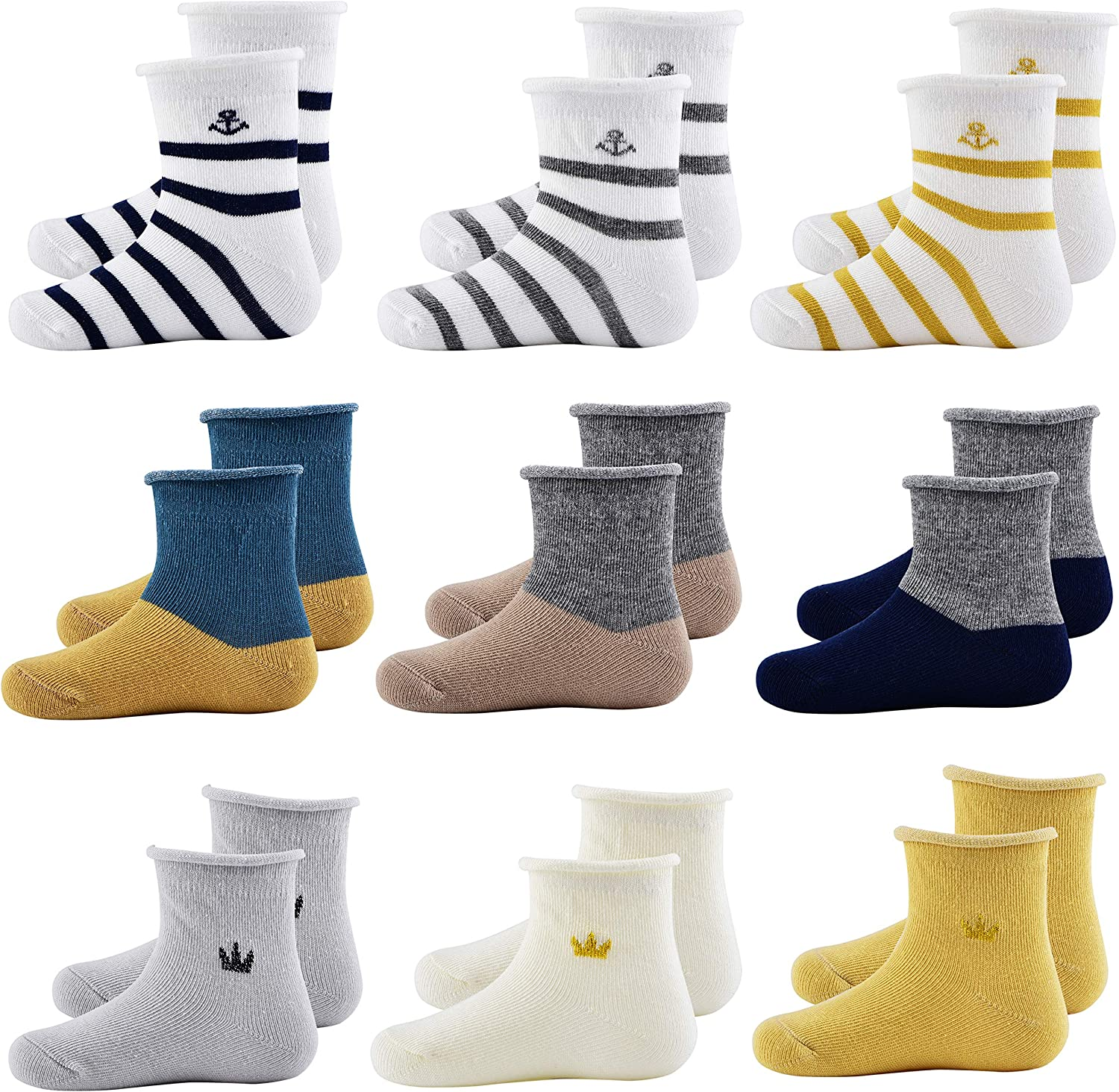 Baby Boys Girls Ankle Socks Soft Cotton Socks Toddler Crew Socks Baby Socks