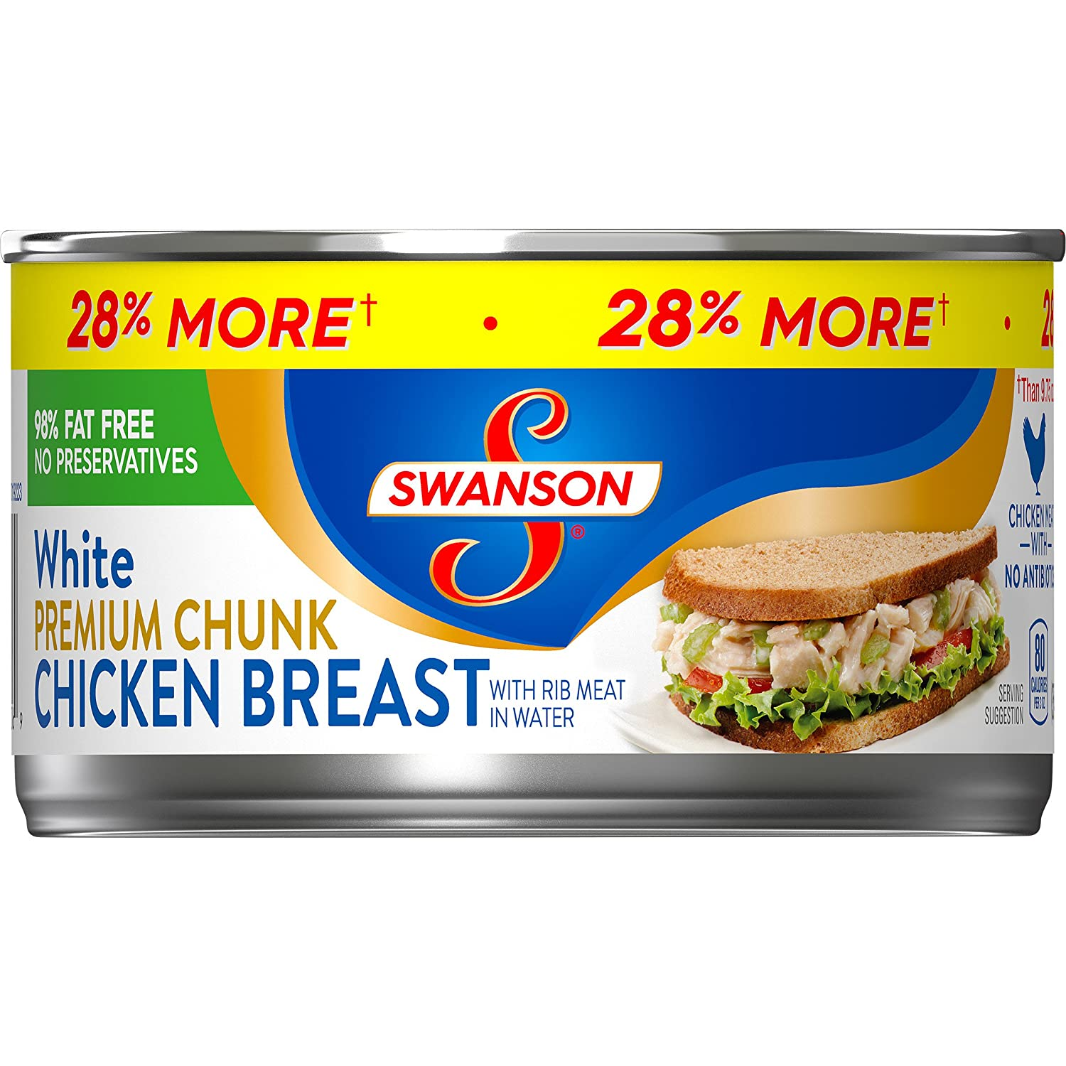 Swanson Premium White Chunk Chicken Breast, 12.5 oz. Can