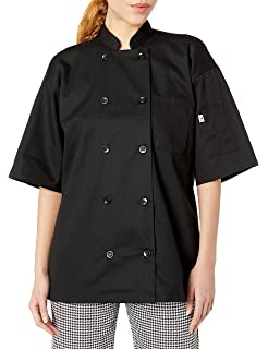 Black XS-6X 0429 Uncommon Threads Montego Short Sleeve chef coat