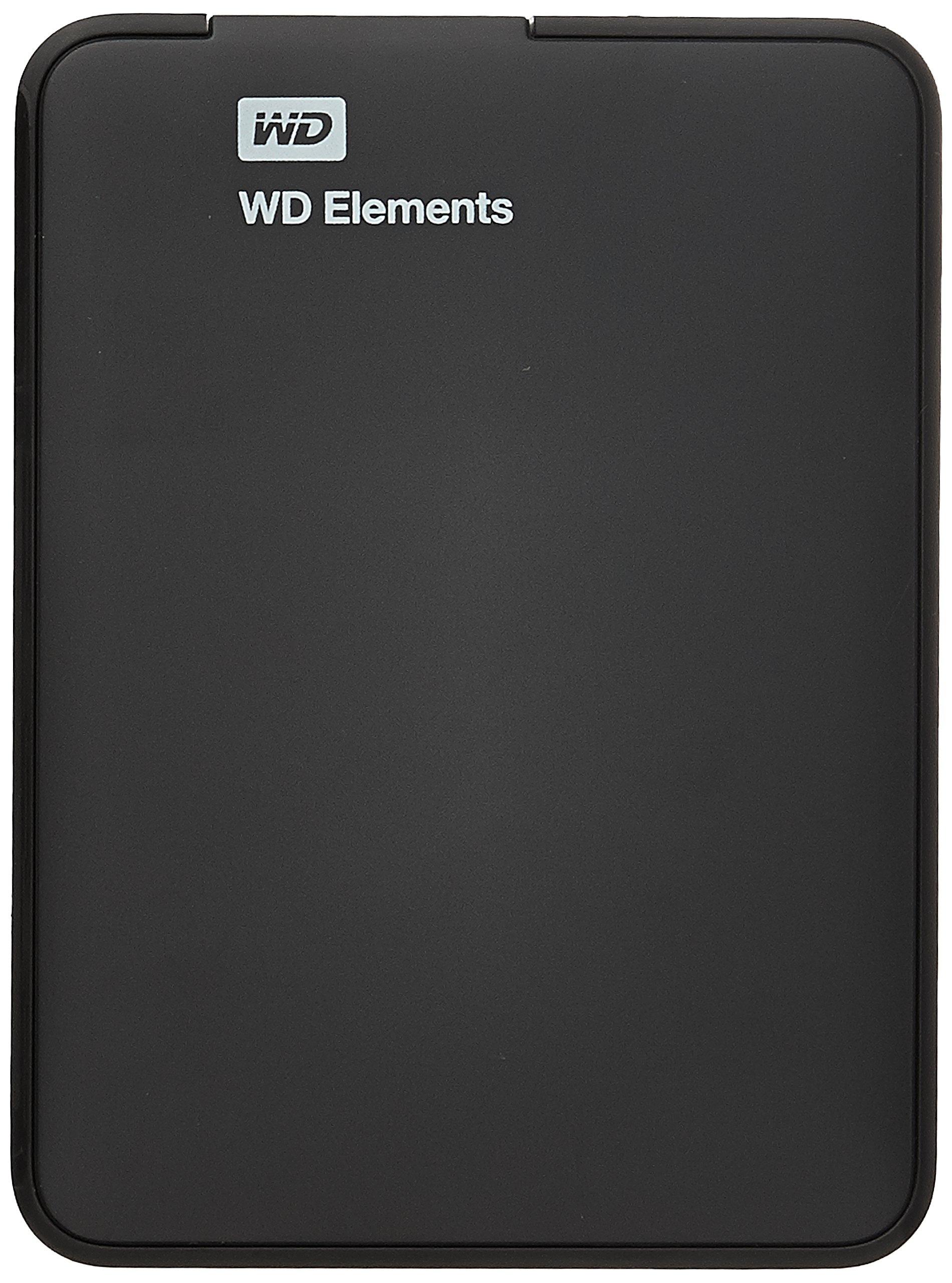 Western Digital Elements 1TB USB 3.0 Portable External Hard Drive (Black) product image