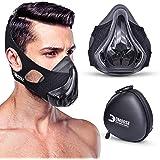 DMoose - Máscara de gimnasia con resistencia ajustable, máscara de respiración para entrenamiento de elevación de alta…