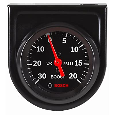 "Bosch SP0F000050 Style Line 2"" Mechanical Vacuum/Boost Gauge (Black Dial Face, Black Bezel): Automotive"