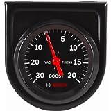 Actron SP0F000050 Bosch Style Line 2' Mechanical Vacuum/Boost Gauge (Black Dial Face, Black Bezel)