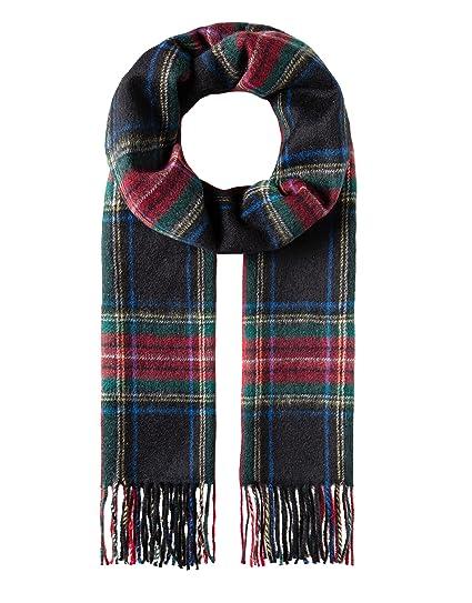 b1d6ed943455 Vincenzo Boretti écharpe femme y homme, longue avec franges, style  classique, design à la mode et élegante - laine vierge   cachemire -  quadrillé - effrangé ...