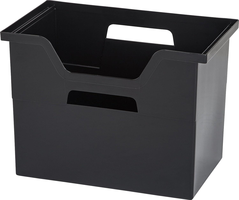 IRIS Desktop File Box, 4 Pack, Large, Black