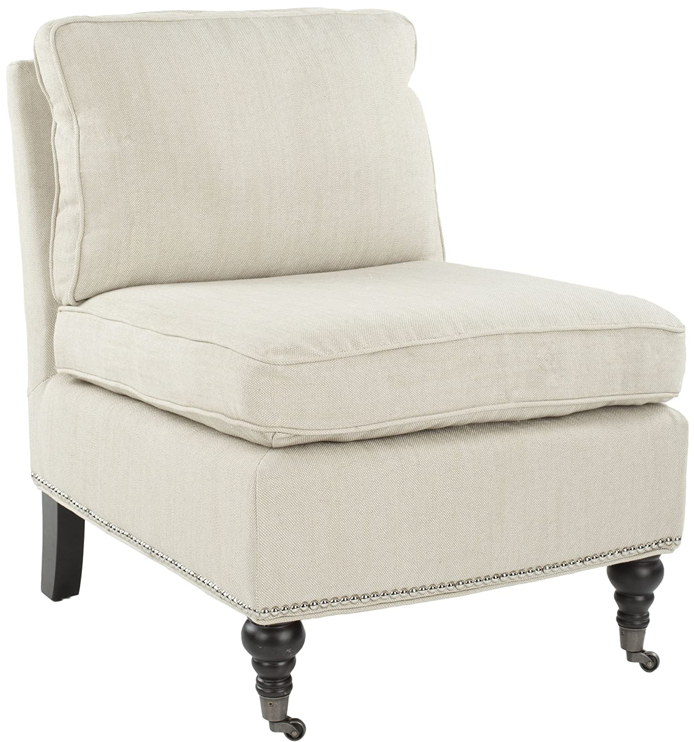 Amazon.com: Safavieh Mercer Collection Randy Slipper Chair, Off White:  Kitchen U0026 Dining