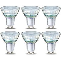 AmazonBasics Spot LED type GU10, 4.6W (équivalent ampoule incandescente de 50W), verre - Lot de 6