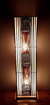 Contemporary Bali Floor Lamp 100cm Hand made jungle flame bamboo ...:Contemporary Bali Floor Lamp 100cm Hand made jungle flame bamboo & bark lamp,Lighting