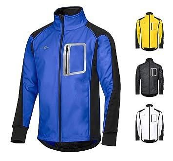 e133a7a367bbf7 CYCLEHERO Winddichte Fahrradjacke wasserdicht atmungsaktiv reflektierend  Softshell Jacke Outdoorjacke (Blau, XS)