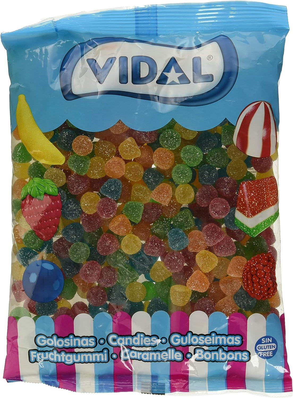 Vidal Golosinas, Gomitas Azúcar, Caramelo de Goma Sabores y Colores Surtidos y Recubrimiento de Azúcar, Mezcla de Frutas, Bolsa de 1 Kg