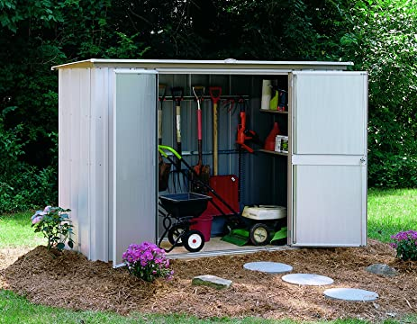 arrow shed gs83 garden steel storage shed 8 feet by 3 feet - Garden Sheds 3 Feet Wide