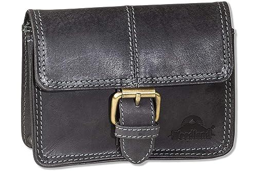 Woodland - tasca Cintura con fibbia in pelle di bufalo naturale in ...