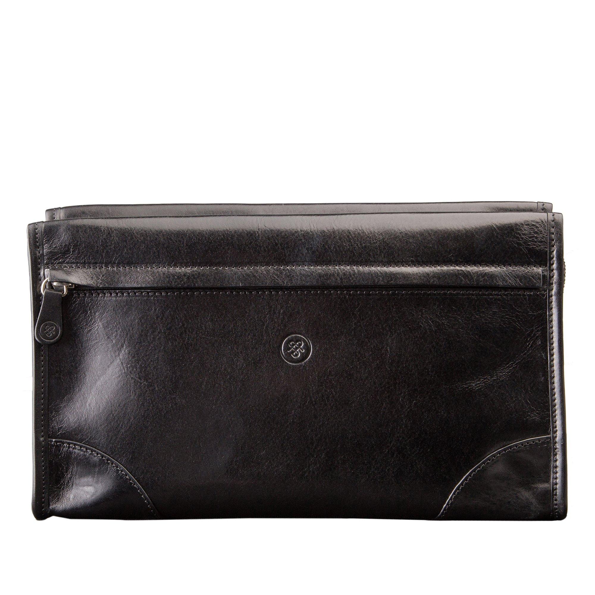 Maxwell Scott Personalized Maxwell Scott Personalized Luxury Black Leather Dopp Kit (The Tanta) - One Size