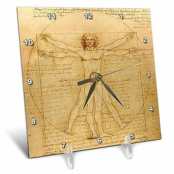 Amazon.com: 3dRose Vitruvian Man by Leonardo Da Vinci 1490 - Fine ...