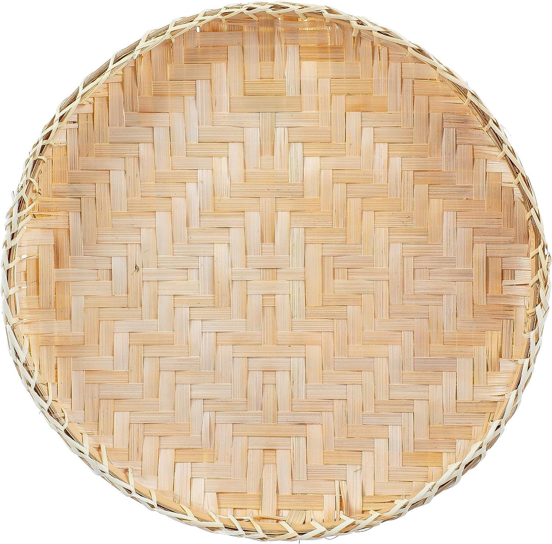 Artera Bamboo Wall Basket Decor, Boho, 13.8