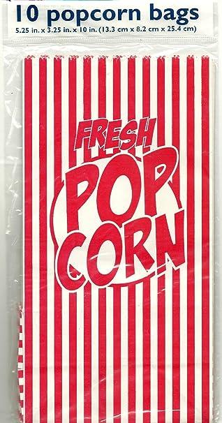 Bolsas de palomitas de maíz – Pack de 10 – 5.25 in x 3.25 In ...