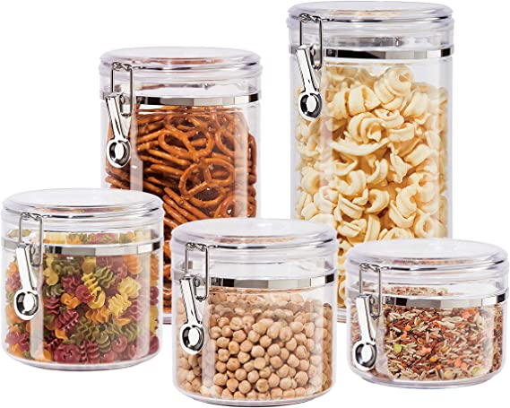 Oggi Clear Canister Set with Lids