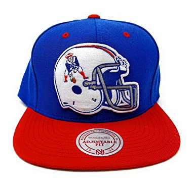 Image Unavailable. Image not available for. Color  Mitchell and Ness New  England Patriots Helmet Throwback Snapback b5e072984f5