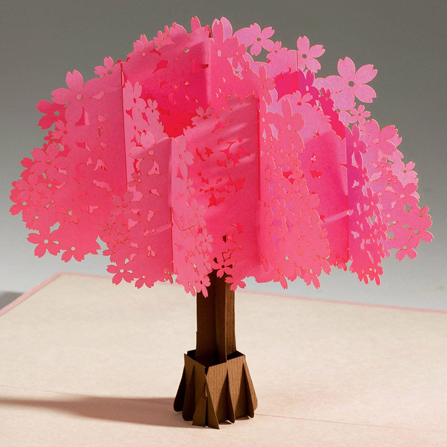 Unique & Beautiful 3D love pop up greeting card & Envelope from PopKard. Surprise with cherry blossom to celebrate Anniversary, Birthday, New Year, ...
