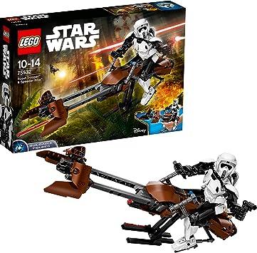 LEGO Star Wars - Scout Trooper y Speeder Bike (75532) Juego de ...