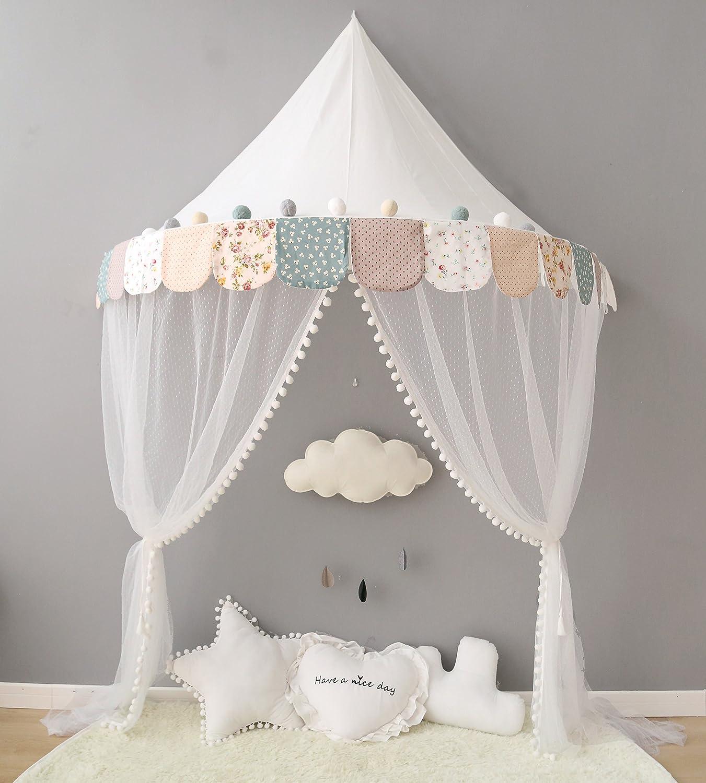 Kinderzimmer kleinkind mädchen  Betthimmel, OUTAD Regenbogen Kinder Betthimmel, Kinder Prinzessin ...