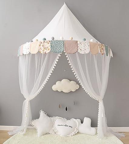 Baldacchino per letto con zanzariera per neonato bambino bambina ...