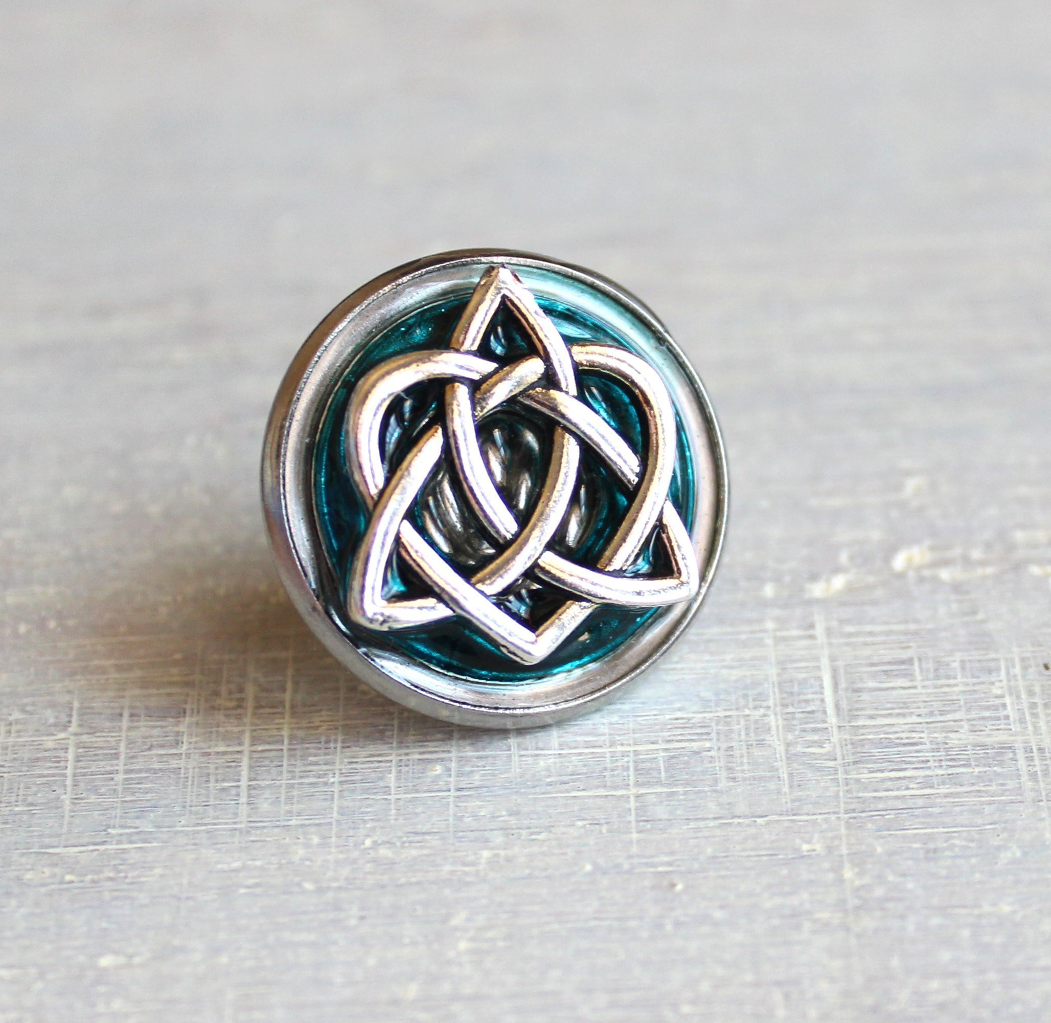 Blue celtic knot tie tack / lapel pin. by Nature With You