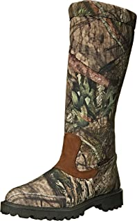 238cfebdc44 Rocky Men s Low Country Waterproof Snake Boot Round Toe