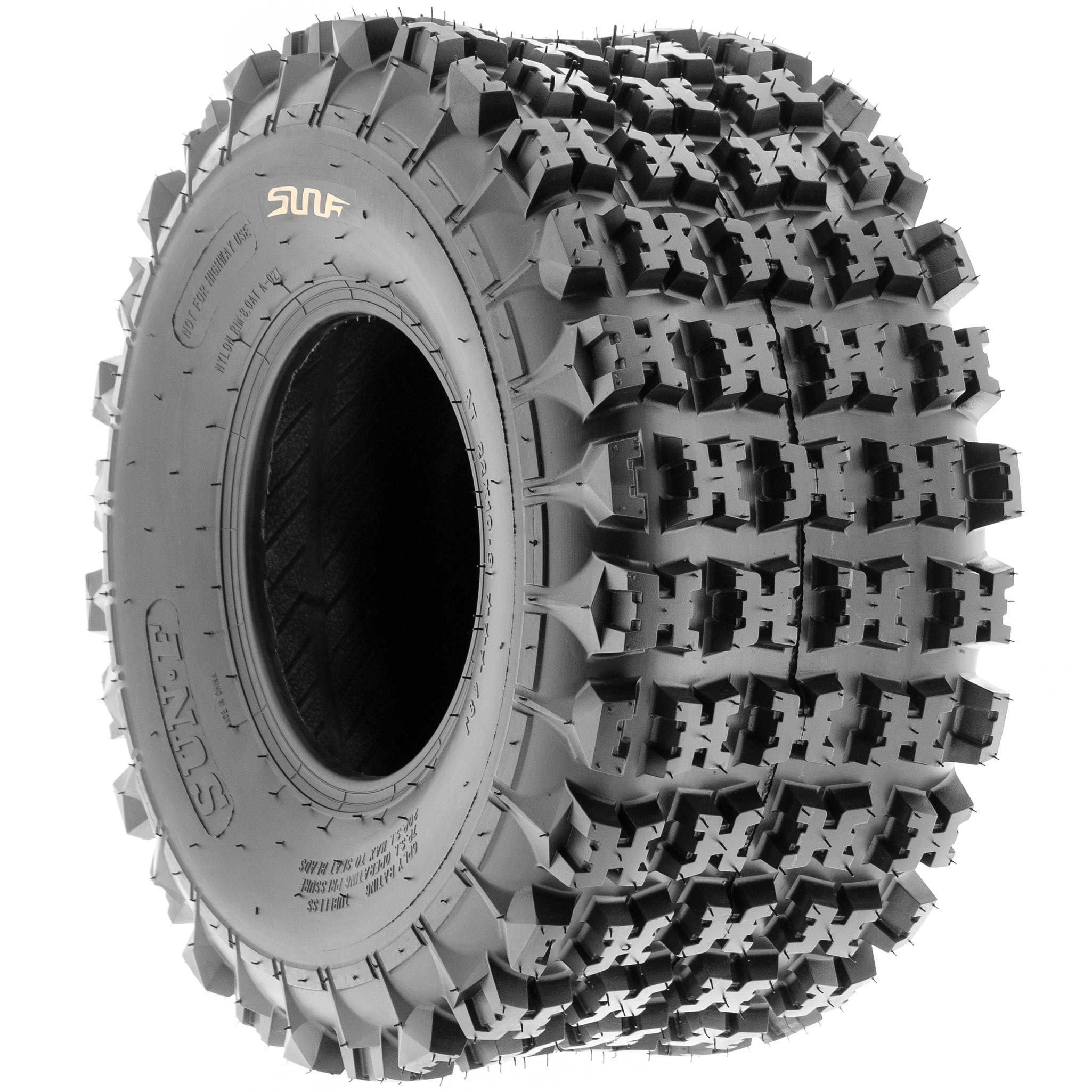 SunF 18x10.5-8 18x10.5x8 ATV UTV All Terrain Race Replacement 6 PR Tubeless Tires A027, [Set of 2] by SunF (Image #5)