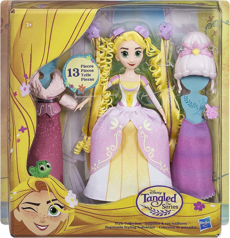 Enredados - Muñeca Rapunzel Pack Colección de Peinados de Disney (Hasbro C1751EU4) , color/modelo surtido: Amazon.es: Juguetes y juegos