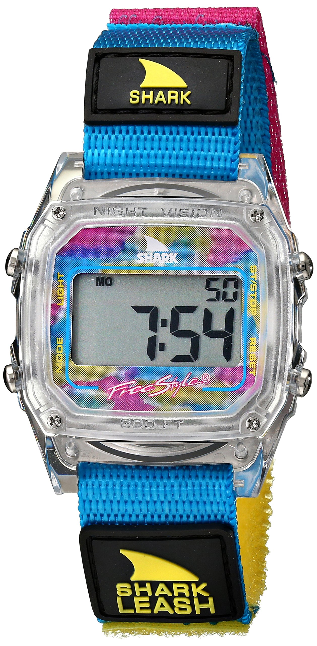 Freestyle Unisex 102245 Shark Leash Clear Digital Japanese-Quartz Velcro Watch by Freestyle