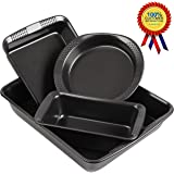 Finnhomy Nonstick Bakeware Set of 4 Piece Essential Baking Pans with Dotted Handle - Commercial Grade Thicken Pans Baking Sheet with Non Stick Easy Food Removal Coating