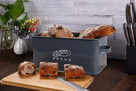 GA Homefavor Panera Contenedor de Cocina para el Pan con Tapa de ...
