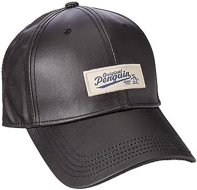 4aa095fc Amazon.com: Original Penguin Men's Waxed Fabric Baseball Cap, Black One  Size: Clothing
