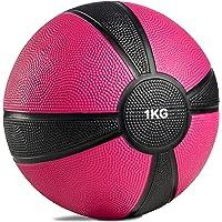 POWRX Medicine Ball Professional 1kg, 2kg, 3kg, 4kg, 5kg, 6kg, 7kg, 8kg, 9kg, 10kg gewicht bal fitness bal gekleurde…