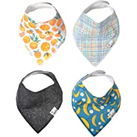 "Baby Bandana Drool Bibs for Drooling and Teething 4 Pack Gift Set ""Citrus"" by Copper Pearl"