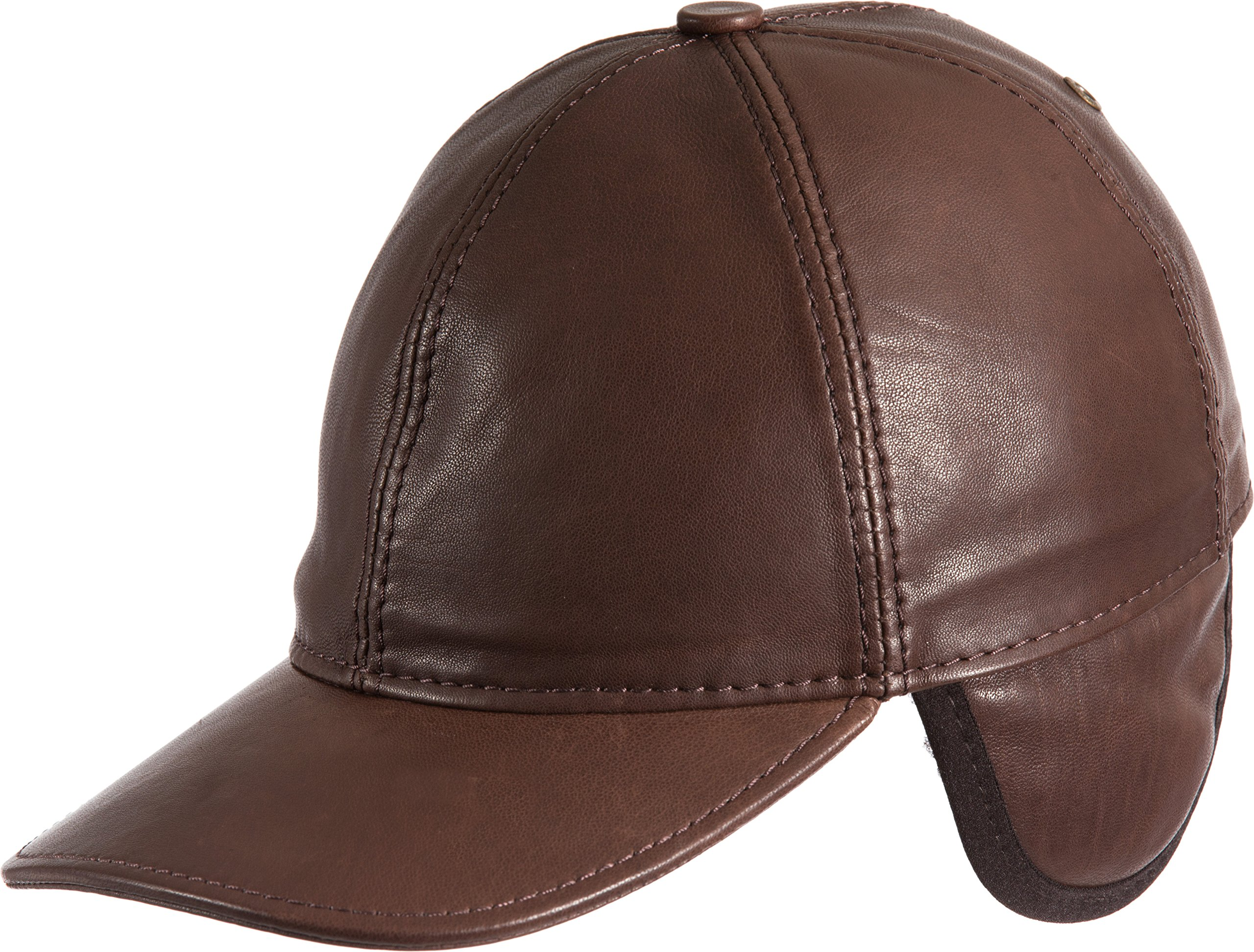 Overland Sheepskin Co Shearling-Lined Spanish Lambskin Leather Baseball Cap