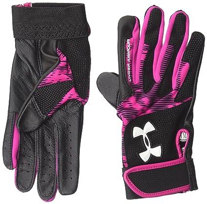 Under Armour UA Women Radar III Fastpitch Batting Gloves Leather Palm HeatGear Baseball & Softball