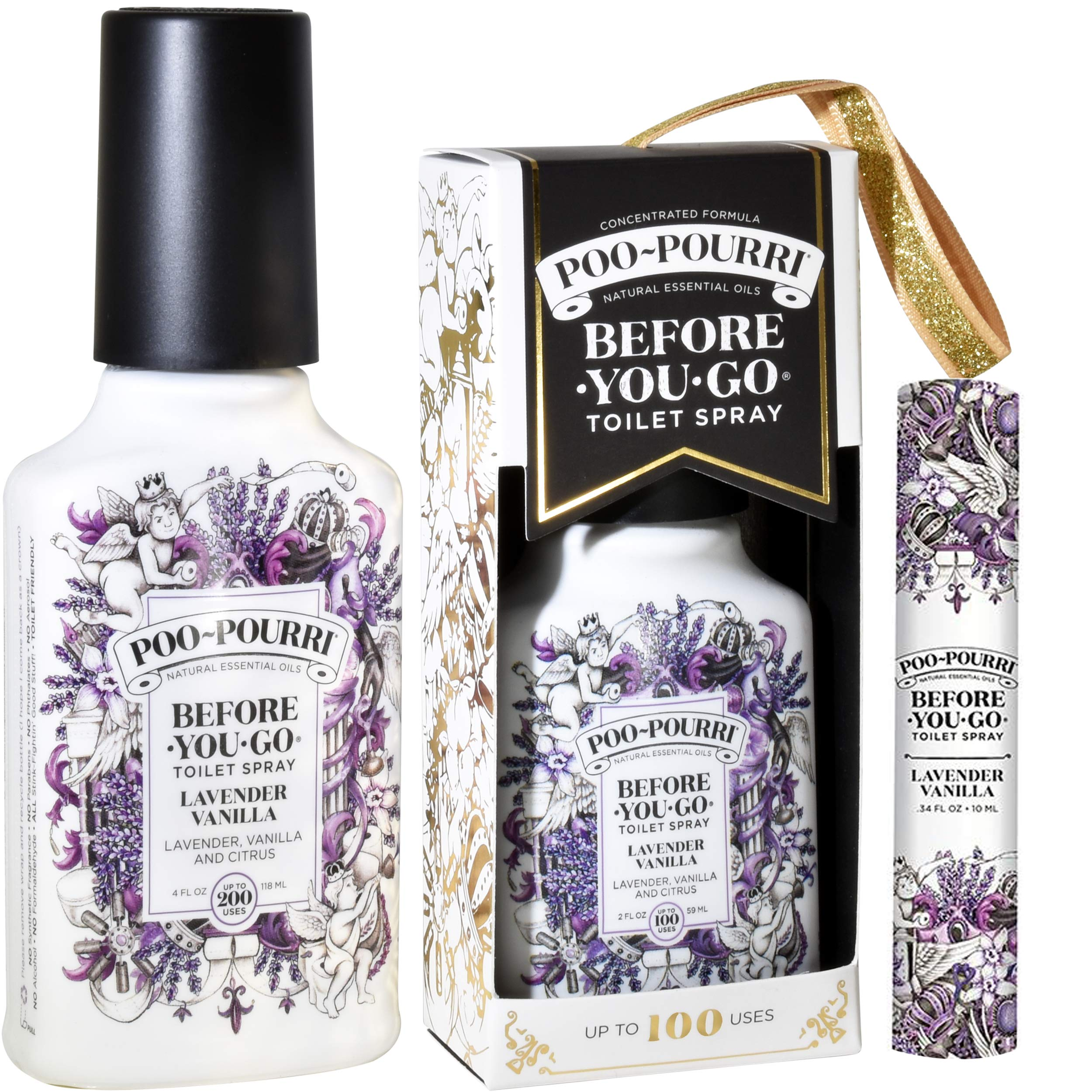 Poo-Pourri Lavender Vanilla 2 Ounce, 4 Ounce, Travel Size Spritzer, and Box by Poo-Pourri (Image #4)