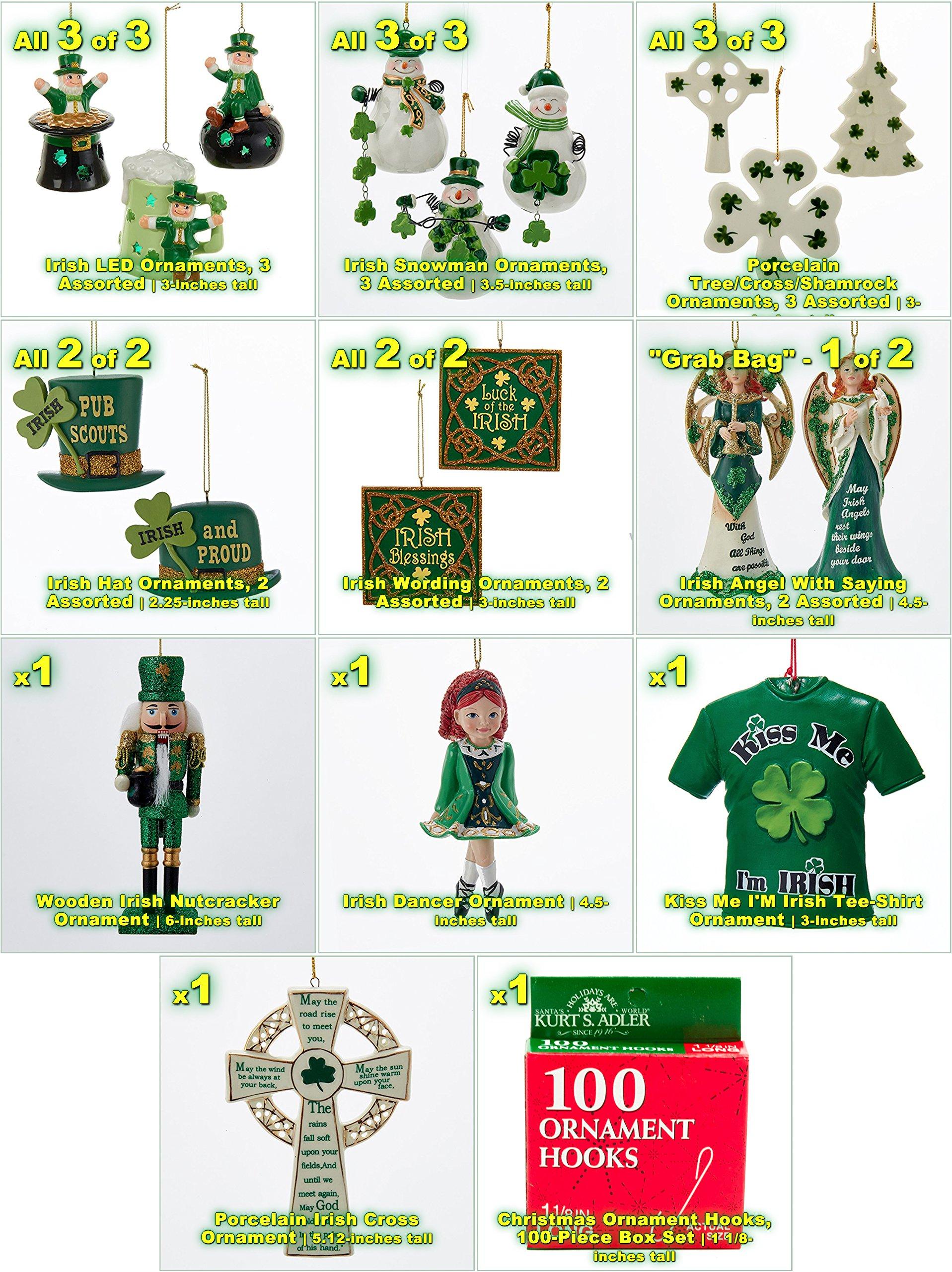 JZ Bundles Starter Set - Irish - Kurt Adler - 19-Piece Bundle - A Bundle of Christmas Ornaments Great Gift by JZ Bundles (Image #2)