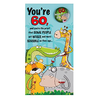 Amazon Hallmark 60th Birthday CardBelieve It Or Not