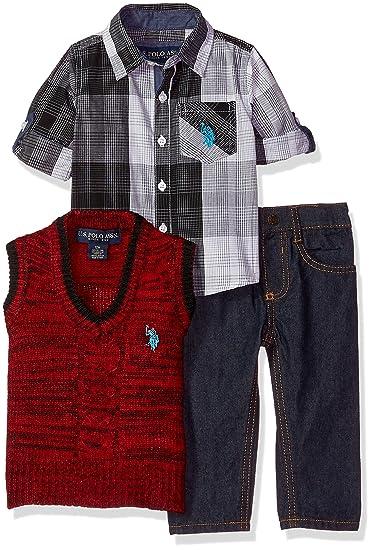 U.S. POLO ASSN. Bebé-Niños P107720M1 Juego de Pantalones - Multi ...