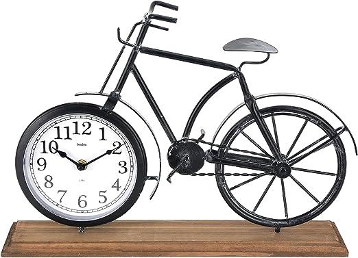 Reloj Bicicleta Reloj de Mesa 41 x 29 cm Metal Madera Reloj de pie ...