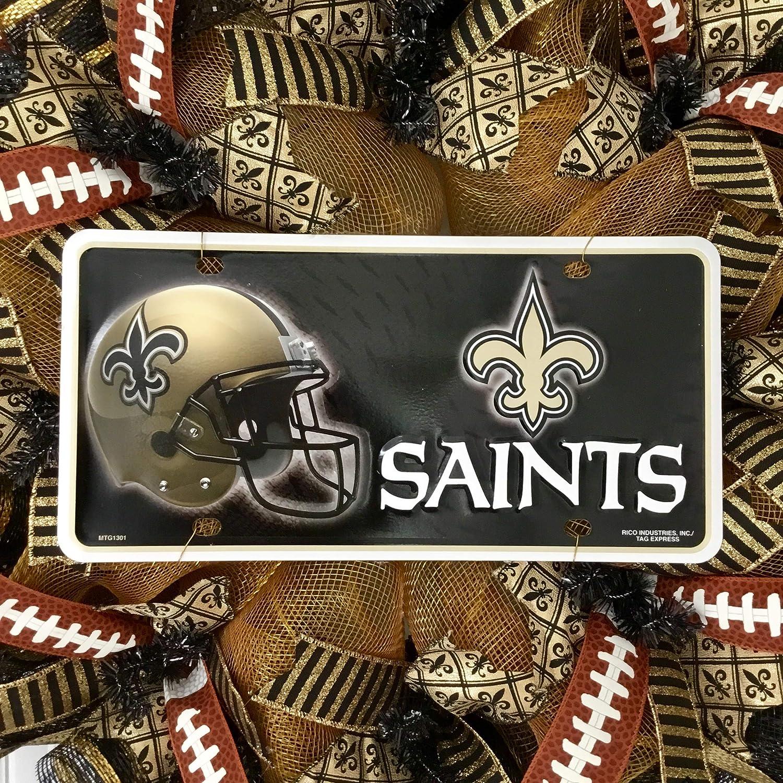 New Orleans Saints Football Handmade Deco Mesh Sports Wreath