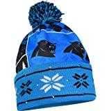 Forever Collectibles NFL Carolina Panthers Busy Block Printed Light Up Beanie, One Size, Blue
