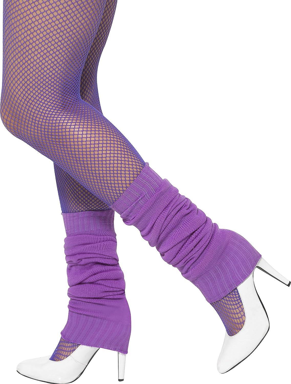 Smiffys Damen Beinstulpen, One Size, Neon Blau, 39453 Smiffy's