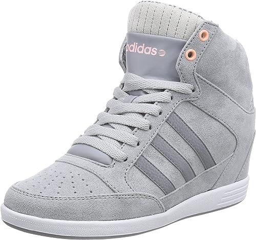 adidas WENEO Super Wedge, Baskets pour Femme Gris Grau (Grey