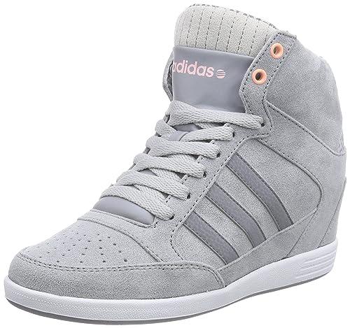 adidas WENEO Super Wedge, Zapatillas Altas para Mujer, Gris-Grau Grey/Light Flash Orange, 37 1/3 EU: Amazon.es: Zapatos y complementos