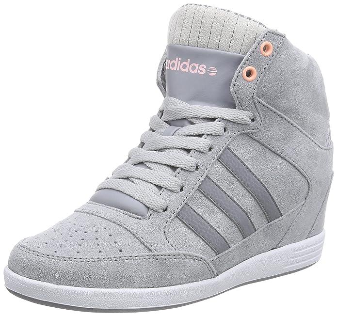 adidas NEO Damen WENEO Super Wedge High Top Grau GreyLight