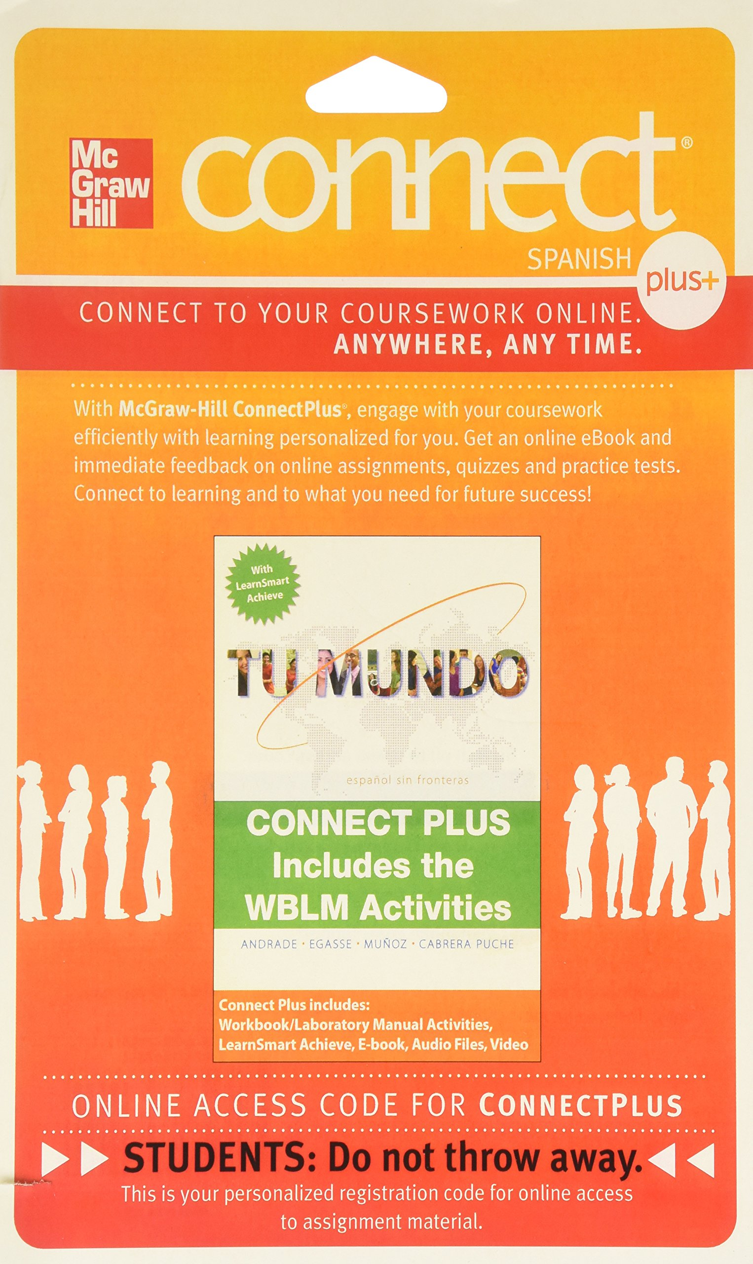 Connect with LearnSmart Achieve (with WBLM) Introductory Spanish 720 day  Access Card for Tu mundo: 9780077780784: Amazon.com: Books